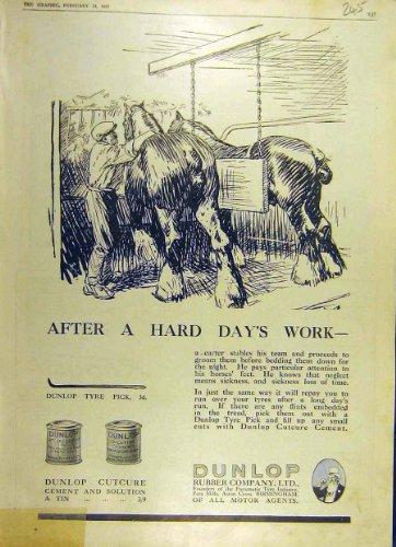 cheval-sabots-1917-de-ciment-solution-de-dunlop-cutcure-en-caoutchouc