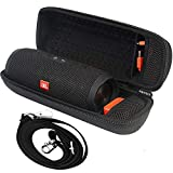 Tasche für JBL Charge 3 Tragbarer Bluetooth-Lautsprecher und Kabel + Zubehör - Schwarz