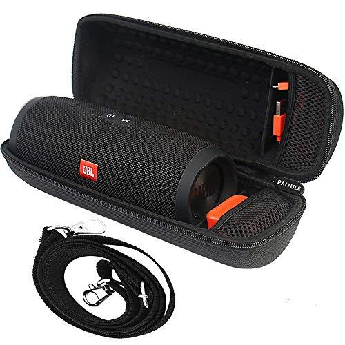 Tasche für JBL Charge 3 Tragbarer Bluetooth-Lautsprecher & Kabel + Zubehör - Schwarz -