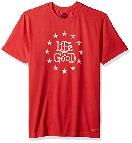 Life is Good Herren Crusher Tee Americana Lig amrred T-Shirt,,, Herren, Americana Red (Baumwolle T-shirt Aus Americana)