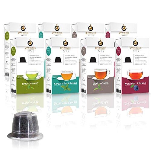 Gourmesso Infusion Box - 80 Nespresso kompatible Teekapseln