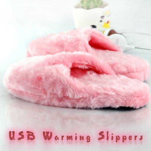USB Heizung Hausschuhe - Ultra Comfort USB Warming Slippers (Pink)