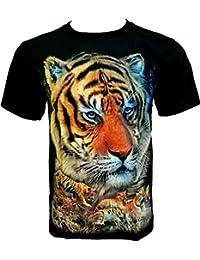 Rock Chang T-Shirt * Tigre * Tiger * Noir R624