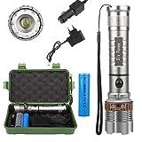 Super Helle Taschenlampe 3000LM T6 LED Taschenlampe Wiederaufladbare High Power LED Zoomable...