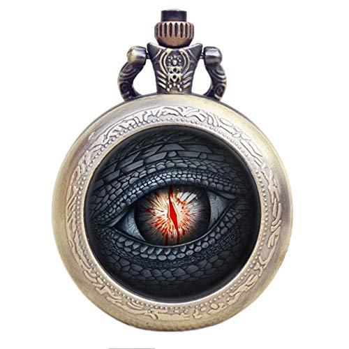 Juego de Tronos dragón ojo de efecto de bronce antiguo Retro/Vintage