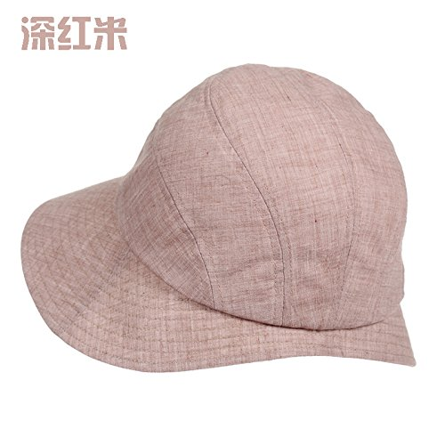 Simple Summer Casual, Female Outdoor Sun Hat, Fisherman'S Hat,Deep Red (Kostüm Rice Kinder)