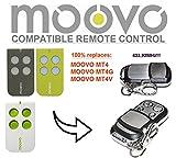 MOOVO MT4, MT4G, MT4V compatible mando a destancia 433,92Mhz rolling code, 4-canales reemplazo transmisor Al mejor precio!!!