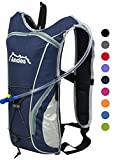 Andes Navy Blue 2 Litre Hydration Pack Water Rucksack/Backpack Cycling Bladder Bag New