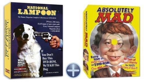 National Lampoon Magazine and Mad Magazine Complete Collectors Comic Books Collection Bundle both on DVD -