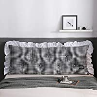 WEN XIN Simple Bedroom Bedside Cushion Japanese Washed Cotton Sofa Pillow