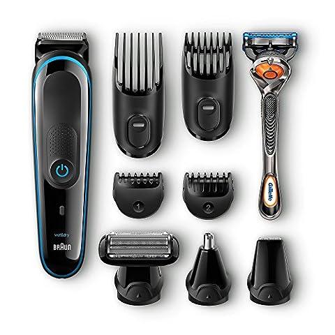 Braun Multigroomer 9-in-1 Bartschneider MGK3080, Rasierer, Trimmer, Bodygroomer mit Gillette