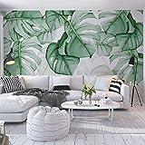 Papier Peint Posters WJbxx Photo Papier Peint Peinture Végétale Tropicale Moderne Salon Chambre Chambre Toile De Fond Décor Murale Murale Pour Murs 3D 300 * 210Cm