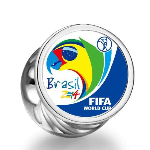 orld Cup 2014 Brazil Theme Cylindrical Photo European charm bead (Graduation Themes)