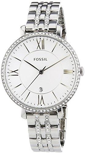 Fossil-ES3545-Orologio da donna al quarzo, cinturino in acciaio INOX, colore: argento