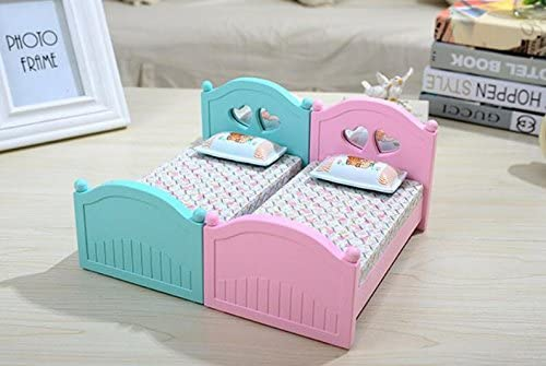 Weekendy Jouet drôle de bébé Boîte à Musique Fun Bijoux Mini lit avec Miroir de Maquillage pour Cadeau d'anniversaire-Bleu | Prix D'aubaine