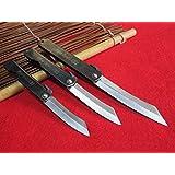 3cuchillos(M/L/XL)Higonokami japonés Cuchillo de bolsillo plegable / Cromo