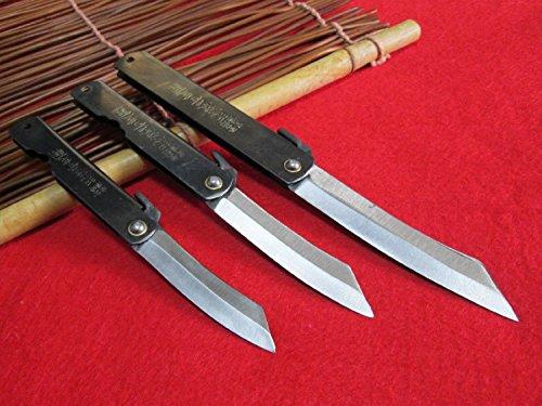 3cuchillos(M/L/XL)Higonokami japonés Cuchillo de...