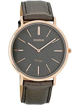 Oozoo Unisex-Armbanduhr Analog Quarz Leder C7322