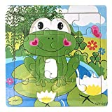 Kids Puzzles Toys, Wooden Animals Fancy Education Learning Intelligence Toys