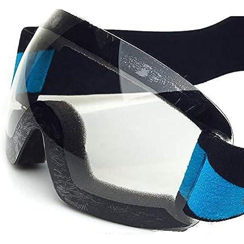 CHT Doppio Antinebbia Sci Grande Specchio Visione 170 Millimetri Colore Opzionale,Transparent
