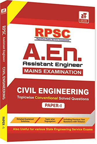 RPSC A.En. Mains Exam Book : CIVIL ENGINEERING PAPER-1 (Conventional Questions With Solution)
