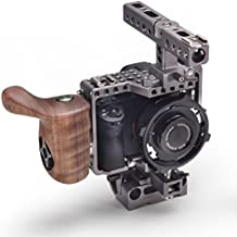 TILTA ES-T17A Sony Alpha A7 A7M2 A7 II A7S A7S2 A7R A7S II A7R II Mark II MK2 Lightweight rig Cage 15mm rod release baseplate + Wooden Handle (record function)