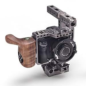 TILTA ES-T17A Sony Alpha A7 A7M2 A7 II A7S A7R A7S II A7R II Mark II MK2 Lightweight caméra rig Cage 15mm rod release baseplate Top handle + Wooden Handle