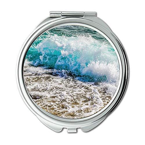 Yanteng Spiegel, Taschenspiegel, Action-Strandlandschaft, Taschenspiegel, tragbarer Spiegel