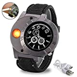 LayOPO USB Lighter Watch Wristwatch Electronic Rechargeable Windproof Flameless Cigar Lighter for Men