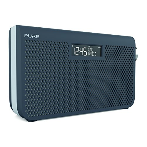 Pure One Maxi Series 3s DAB/DAB+ Digital and FM Portable Radio, Stereo Sound, Dual Alarm Clock, Aux-In, Headphone Socket, Battery Portable or Mains Powered, Slate Blue