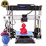 Imprimante 3D, ColorFish A8 Prusa i3 MK8 Extruder Kit De Mise à Niveau De l'imprimante 3D, Filament d'imprimante ABS/PLA 1.75 mm (Dimension Structurelle 220 × 220 × 240 mm)