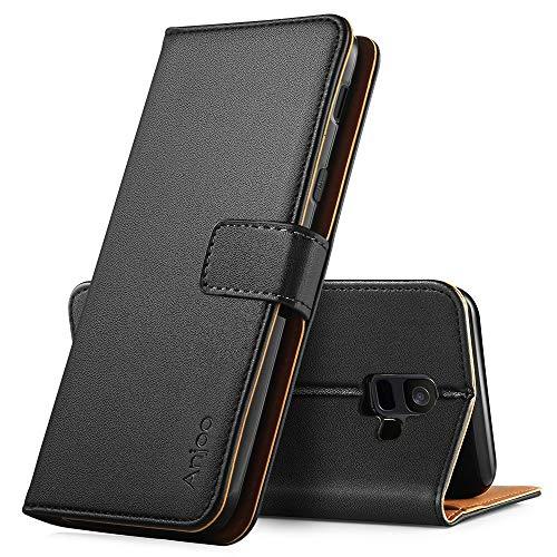 Anjoo Kompatibel für Huawei Honor 8X Hülle, Handyhülle Huawei Honor 8X Schutzhülle, Tasche Leder Flip Case Brieftasche Etui mit Kartenfach & Ständer für Huawei Honor 8X - Schwarz