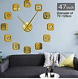 Txyang Logiciel De Communication Sans Cadre Signe 3D Diy Horloge Murale Autocollante Calme Balayage Moderne De Mode Maison Décoration Horloge Watch47Cm...
