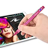 Zspeed Stylus Stift, Eingabestift Präzision Disc Stylus Pen Grafiktablett-Stifte für iPad, iPad Mini, iPad Pro, iPhone, LG, Huawei, Samsung Galaxy Tab, alle Touchscreen Smartphones & Tablets (Rot)