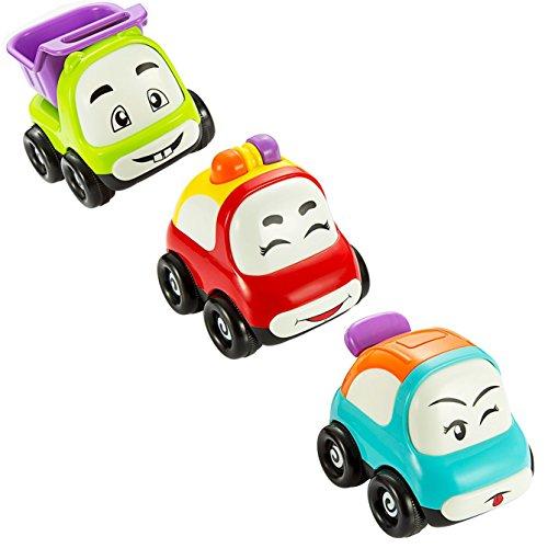 Jouet Voiture, Pictek Véhicule Miniature Mignon à Friction Camion Jouet Bébé Lot de 3 pour Enfants de 18 Mois à 3 Ans, CADEAU IDÉAL POUR BÉBÉ