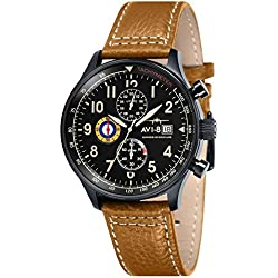 Avi-8 Men's Lancaster Bomber Quartz Watch with Analogue Display and Leather Strap