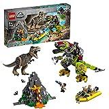 LEGO Jurassic World - T. Rex vs. Dinosaurio Robótico Juguete de construcción para Recrear...