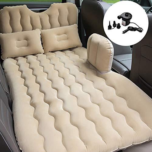 Zcjb materasso gonfiabile for lettino gonfiabile for auto con supporto for la schiena, 2 cuscini d'aria e 2 piedini for piedi d'aria inclusi for il campeggio da viaggio