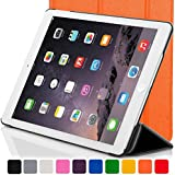 """ForeFront Cases® New Apple iPad Mini 7.9"""" with Retina Display Leather Case Cover / Stand with Magnetic Auto Sleep Wake Function For New 2013 Apple iPad WiFi 16Gb, 32Gb, 64Gb, 128Gb - ORANGE"""