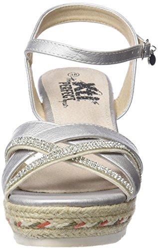 Donna Alla Sandali Argento platinum Cinturino 47656 Caviglia Xti 41vaqa