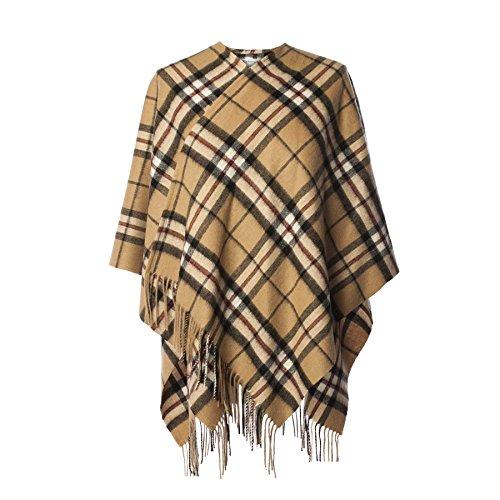 Edinburgh Lambswool Damen Poncho THOMSON CAMEL -