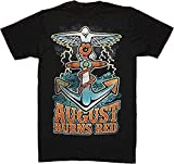 August Burns Red - Anchor - Camiseta Oficial Hombre - Negro, Large