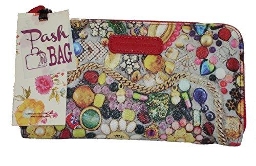 Portefeuille Pashbag by L'atelier du sac mod 4410 porte monnaie Rouge