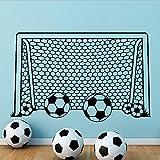 qazwsx Junge Wandtattoo Fußball Fußball Tor Net Vinyl Aufkleber Für Kinderzimmer Dekoration Sport Schlafzimmer Dekor Kunst Poster Fertige Größe 57X89 cm