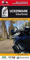 Motorrad-Tourenkarte Uckermark-Schorfheide: Routen- und Hotelführer