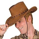 Cappello Da Cowboy Marrone Taglia Unica