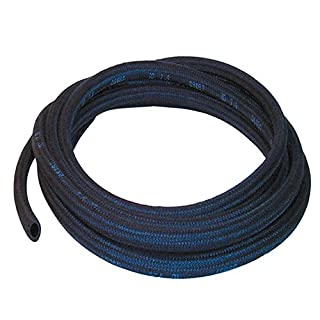 3.5mm ID Black 4 Metre Length Rubber Hose With Cotton Overbraid - AutoSilicon.