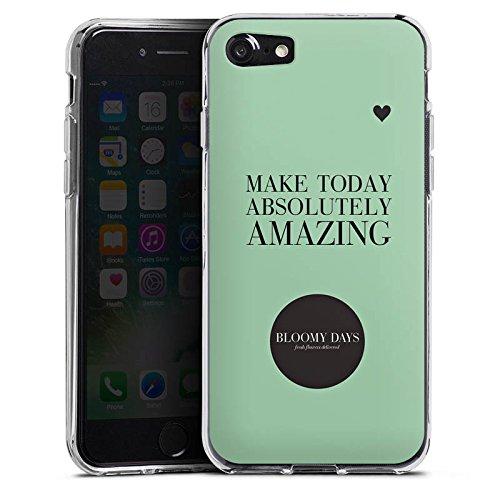 Apple iPhone X Silikon Hülle Case Schutzhülle Blumen Liebe Herz Sprüche Silikon Case transparent
