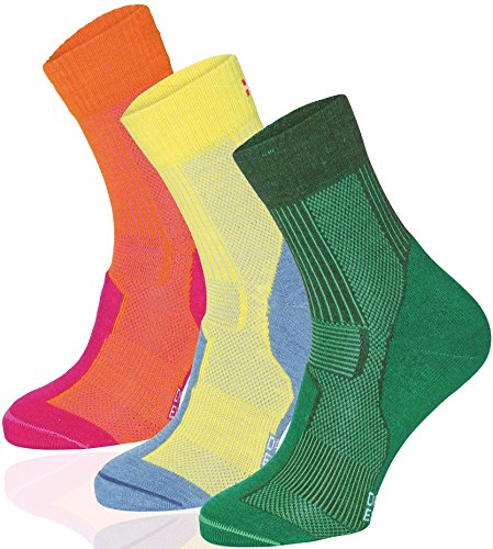 #Merino Wool Light Cushion Socks (EU 43-47, Gelb/Kieselgrau – 1 Paar)#