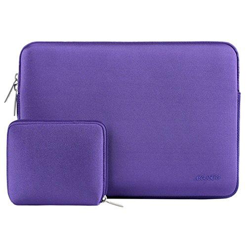 MOSISO Wasserresistente Lycra Hülle Sleeve Tasche Kompatibel 11-11,6 Zoll MacBook Air, Ultrabook Netbook Tablette Laptophülle Laptoptasche Notebooktasche mit Kleinen Fall, Ultra Violet